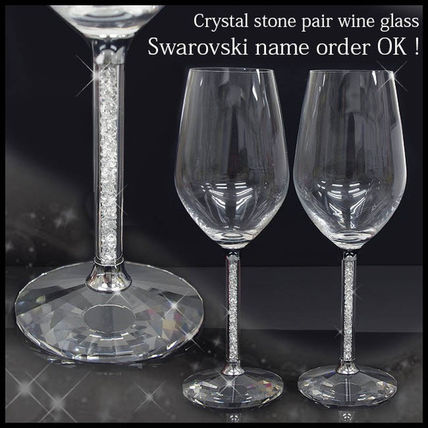Put the name SWAROVSKI Crystal pair gift wine glass 2
