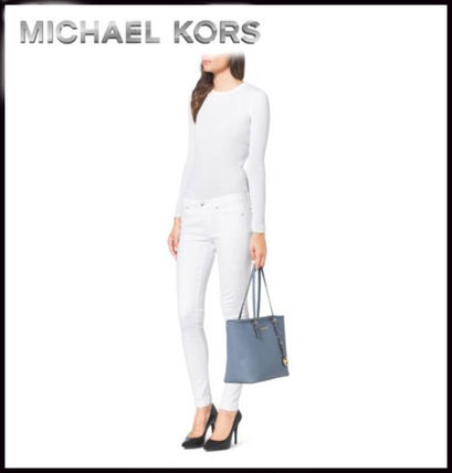 Michael Kors トートバッグ MICHAEL KORS★JET SET MEDIUM TRAVEL TOP ZIP TOTE 国内発送!(10)