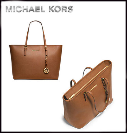 Michael Kors トートバッグ MICHAEL KORS★JET SET MEDIUM TRAVEL TOP ZIP TOTE 国内発送!(11)