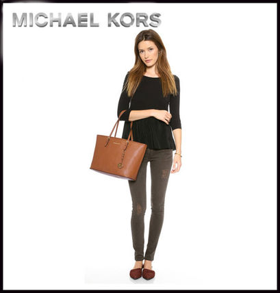 Michael Kors トートバッグ MICHAEL KORS★JET SET MEDIUM TRAVEL TOP ZIP TOTE 国内発送!(12)