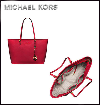 Michael Kors トートバッグ MICHAEL KORS★JET SET MEDIUM TRAVEL TOP ZIP TOTE 国内発送!(15)