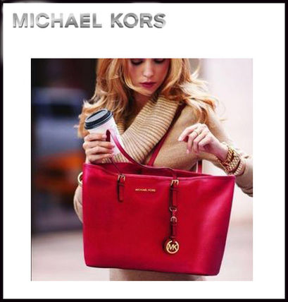 Michael Kors トートバッグ MICHAEL KORS★JET SET MEDIUM TRAVEL TOP ZIP TOTE 国内発送!(16)