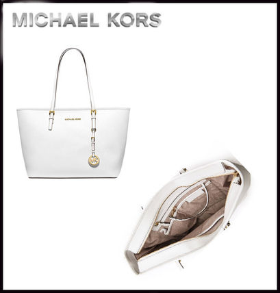 Michael Kors トートバッグ MICHAEL KORS★JET SET MEDIUM TRAVEL TOP ZIP TOTE 国内発送!(19)