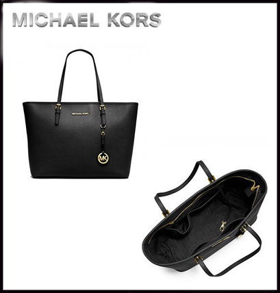 Michael Kors トートバッグ MICHAEL KORS★JET SET MEDIUM TRAVEL TOP ZIP TOTE 国内発送!(2)