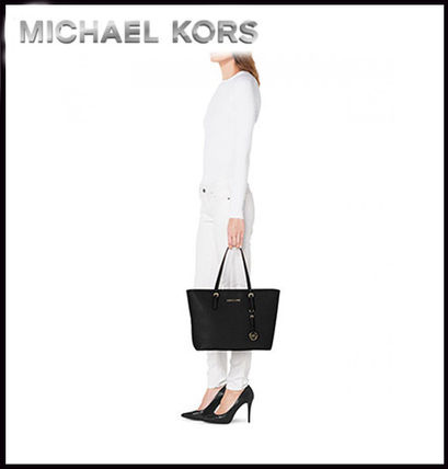 Michael Kors トートバッグ MICHAEL KORS★JET SET MEDIUM TRAVEL TOP ZIP TOTE 国内発送!(3)