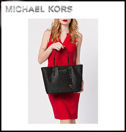 Michael Kors トートバッグ MICHAEL KORS★JET SET MEDIUM TRAVEL TOP ZIP TOTE 国内発送!(4)