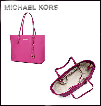 Michael Kors トートバッグ MICHAEL KORS★JET SET MEDIUM TRAVEL TOP ZIP TOTE 国内発送!(5)