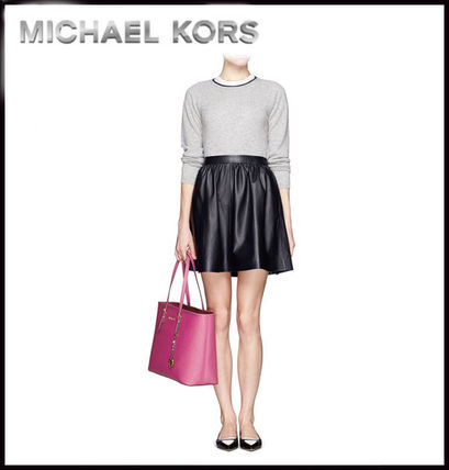 Michael Kors トートバッグ MICHAEL KORS★JET SET MEDIUM TRAVEL TOP ZIP TOTE 国内発送!(6)