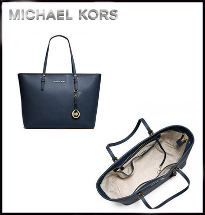 Michael Kors トートバッグ MICHAEL KORS★JET SET MEDIUM TRAVEL TOP ZIP TOTE 国内発送!(7)