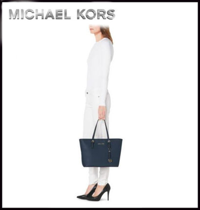 Michael Kors トートバッグ MICHAEL KORS★JET SET MEDIUM TRAVEL TOP ZIP TOTE 国内発送!(8)