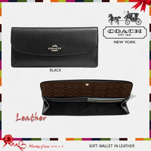 COACH 52689 SOFT WALLET IN LEATHER
