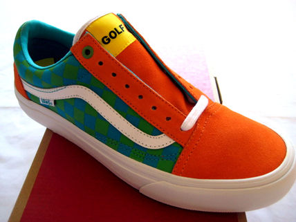 15 Vans Old Skool Pro Classics x GOLF WANG Odd Future Orange