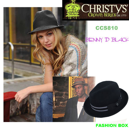 【Christys'】 WOOL 100% CCS810 BENNY D BLACK