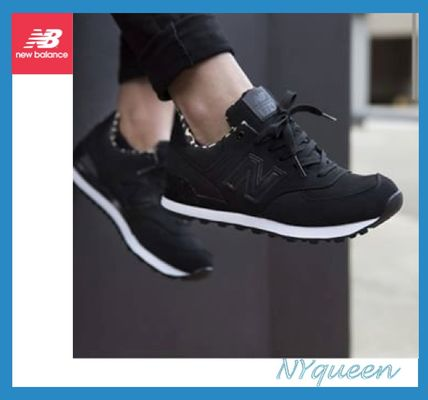 New Balance 574 black / Leopard sneakers