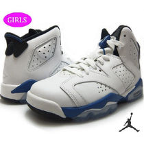 【国内発送 NIKE】AIR JORDAN 6 RETRO BG SPORT BLUE 384665 107