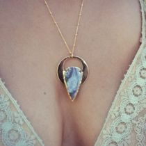 ★LUX DIVINE★ CELESTIAL ARROWHEAD Necklace /// Gold