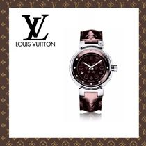 2015-16秋冬☆LOUIS VUITTON☆TAMBOUR DISC AMARANTE S 腕時計