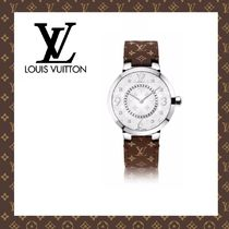 2015-16秋冬☆LOUIS VUITTON☆TAMBOUR MONOGRAM BRUN 28 MM 時計