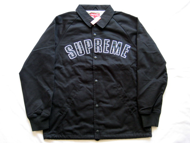 即発送!15秋冬 Supreme Twill Coaches Jacket黒