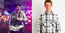 【Justin Bieber愛用】Longline Plaid Shirt in Cream/Black