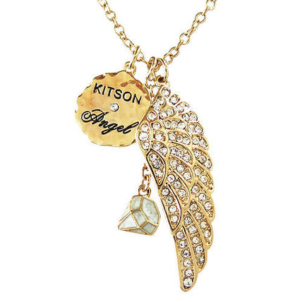 kitson ネックレス・ペンダント キットソン ネックレス ラインストーン フェザー KN0001