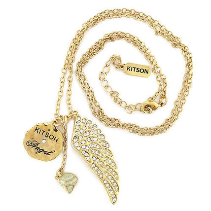 kitson ネックレス・ペンダント キットソン ネックレス ラインストーン フェザー KN0001(5)