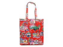 Cath Kidston  Book Bag 515665 W'Gusset OC Christmas Red