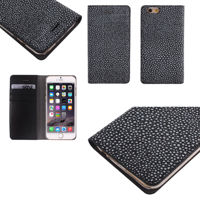 SMART  CASE/上級ブランド/IPHONE6/Black stingray