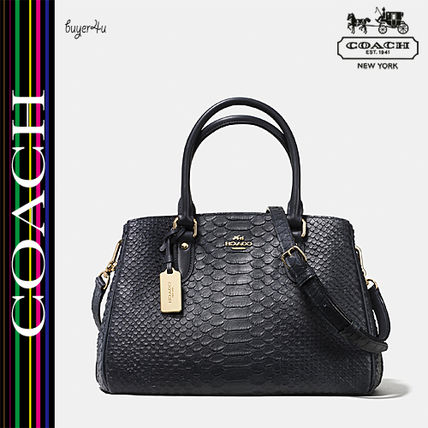 COACH★セール価格☆MINI EMPIRE CARRYALL STAMPED LEATHER♪