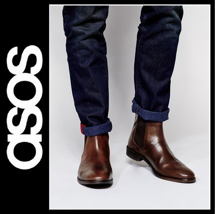 popular ASOS real leather side Gore boots