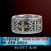 SCOTT KAY(スコットケイ) 指輪・リング ☆MADE IN USA☆漢のリング☆SCOTT KAY☆TWO-TONE GOTHIC CROSS
