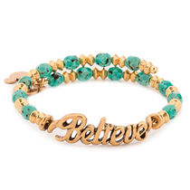 アレックスアンドアニBelieve Gold Wrap Bracelet Disney