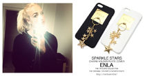 iPhone6s対応ケース★彡【ENLA】SPARKLE STARS CHARM COVER GOLD