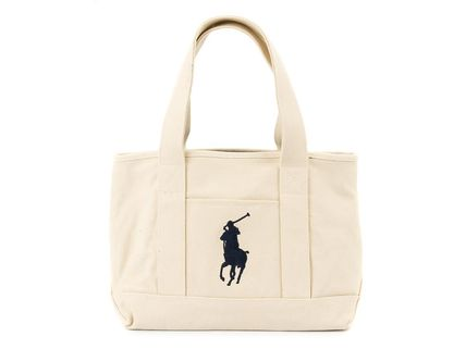 RalphLauren  トートバッグ MEDIUM SCHOOL TOTE 959010 IVORY