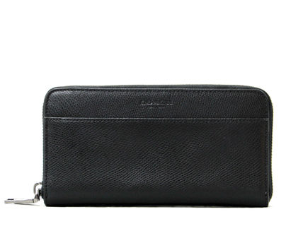 人気の黒☆COACH☆CROSSGRAIN LEATHER ACCORDION WALLET