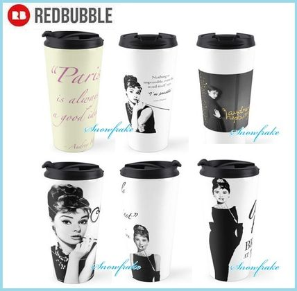 Audrey Hepburn RED BUBBLE tumbler
