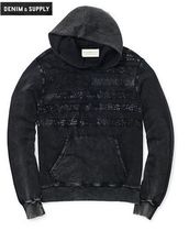 【送料無料】FLAG-APPLIQUE COTTON HOODIE☆フーディ