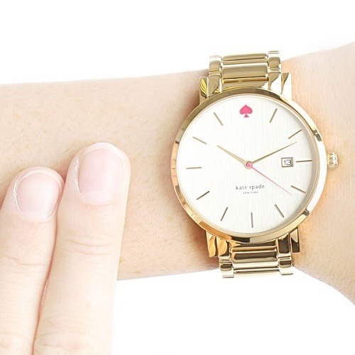 SALE!! 大人気☆ Kate Spade - Large Gold Gramercy Watch