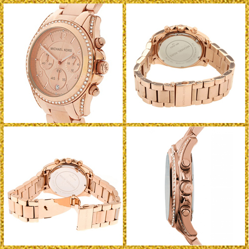 【3-5日着】Michael Kors★MK5263★Blair Rose Gold-Tone Watch