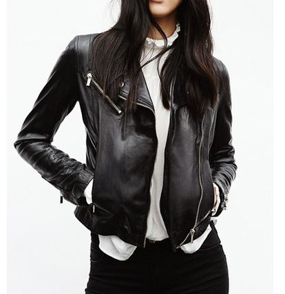 Soft or leather by car jacket black