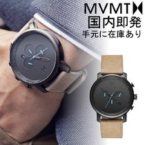 【日本未入荷】MVMT CHRONO GUN METAL/SANDSTONE LEATHER