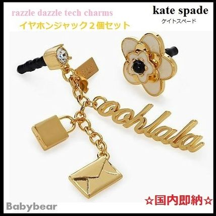 kate spade new york スマホケース・テックアクセサリー 【kate spade】国内即納☆ razzle dazzle tech charms 2個セット