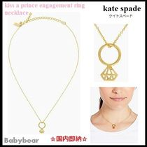 【kate spade】関税込 kiss a prince engagement ring necklace