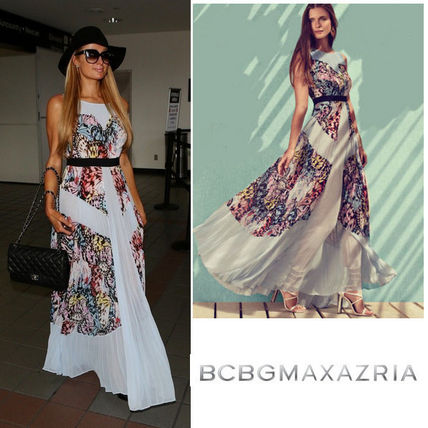 BCBG sale Paris Hilton are wearing long dress