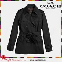 COACH 86050 SOLID SHORT TRENCHコート 3色