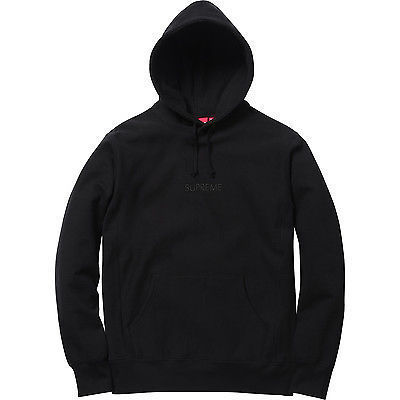 Supreme FW15 Tonal Embroidered Hooded 黒 size SMALL