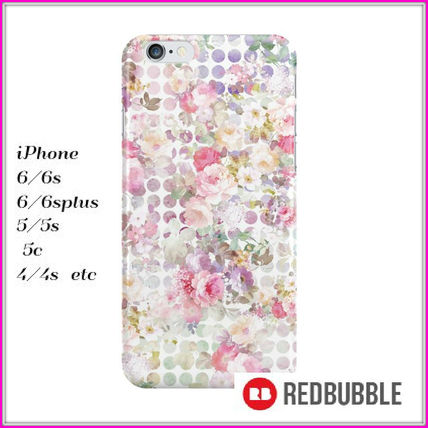 【送料込み】 RED BUBBLE Watercolor Roses iPhoneケース