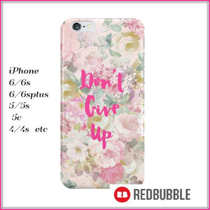 【送料込み】 RED BUBBLE don't give up iPhoneケース