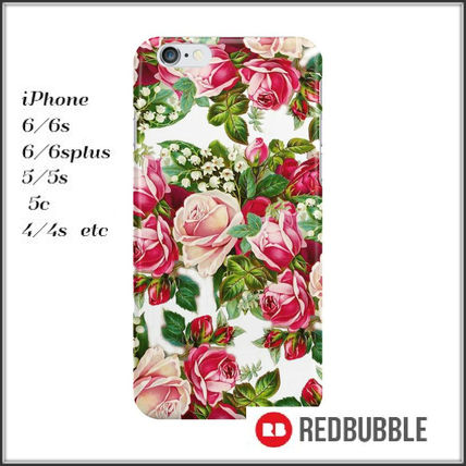 【送料込み】 RED BUBBLE red pink roses flowers iPhoneケース