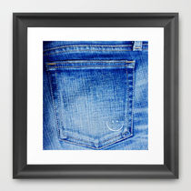 Society6◆額入りアートプリント◆jeans_smile by M366